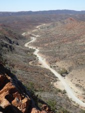 Road through the Vulkathunha-Gammon Ranges NP, near Arkaroola Village.