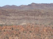 A layered landscape in the Vulkathunha-Gammon Ranges NP.